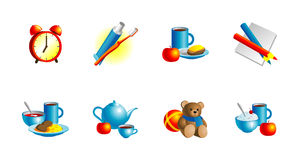 Set of vector icons Royalty Free Stock Image