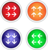 Set of vector icons with arrows Stock Photo