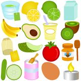 A set of vector icons : Beauty Ingredients Royalty Free Stock Image
