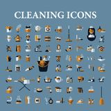 Set of vector icons of black on a white background Stock Photos