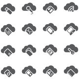 Set of vector icons. Cloud storage concept. Stock Photography