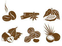 Set of vector icons dessert ingredients Stock Photos