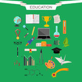 Set of vector icons of education Royalty Free Stock Images
