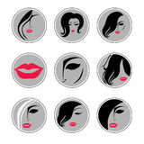 Set of vector icons Stock Images