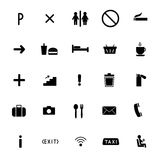 Set of vector icons flat line. public sing Royalty Free Stock Images