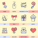 Set of vector icons in the flat style. Stock Photo