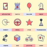 Set of vector icons in the flat style. Royalty Free Stock Photos