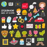 Set of vector icons Stock Photos