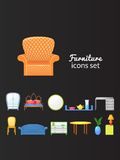 Set vector icons furniture isolated from Stock Image