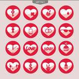 Set of vector icons of hearts_1 Royalty Free Stock Photography