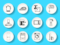 Set of the vector icons Stock Photography