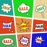 Set of vector icons on the inscription SALE Royalty Free Stock Photography
