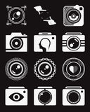 Set of Vector Icons and Logos Photo. Vector collection of photography logo templates. Photography vintage and modern badges and photo labels. Photocam logotypes Royalty Free Stock Photo