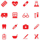 Set vector icons for medical and health. Stock Photography