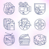 Set of vector icons in modern linear style. Royalty Free Stock Photos