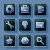 Set of vector icons in a modern style polygon. Royalty Free Stock Photography