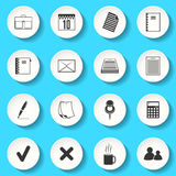 Set of the vector icons Royalty Free Stock Photo