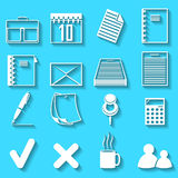 Set of the vector icons Stock Image