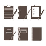 Set of vector icons of office supplies stock illustration