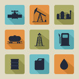 Set of vector icons with oil Stock Photography