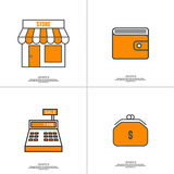 Set of vector icons pictograms Royalty Free Stock Photo