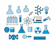 Set of vector icons Science and Education Royalty Free Stock Images