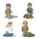 Set vector icons of small children different professions Royalty Free Stock Photography