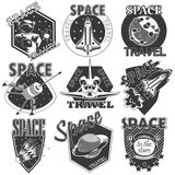Set of vector icons space. stock illustration