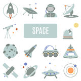 Set of vector icons. Space Royalty Free Stock Photos
