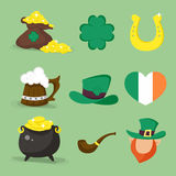 Set of vector icons for St.Patrick's day design. Stock Photography