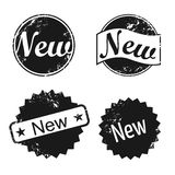 New stamp icons. A set of vector icons stamp with word NEW Stock Photo