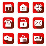 Set of vector icons Stock Photo