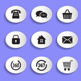 Set of vector icons Stock Photography