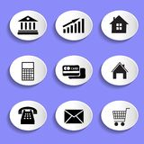 Set of vector icons Stock Image