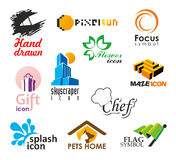 Set of vector icons and symbols royalty free stock photography