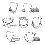 Set of vector icons of a teeth Stock Photos