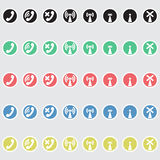 Set of vector icons telephony Royalty Free Stock Images
