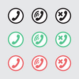 Set of vector icons telephony Royalty Free Stock Photography