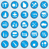 Set of vector icons on a theme of repair work. Royalty Free Stock Image