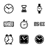 Set of vector icons - time, clocks, watches Stock Photo