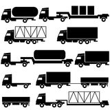 Set of vector icons - transportation symbols. Royalty Free Stock Image