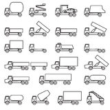 Set of vector icons - transportation symbols Royalty Free Stock Images