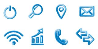 SET OF VECTOR iconS . web elements Eps10. stock illustration