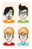 Set of vector illustration cartoon avatar portraits Stock Image