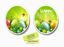 Set.Vector illustration. Easter greeting card with colorful eggs Royalty Free Stock Image