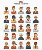 Set of vector illustration  a flat avatars icons Stock Image