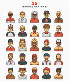 Set of vector illustration a flat avatars icons Royalty Free Stock Images