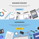 Set vector illustration flat design concepts for business, finance. Set of flat design illustration concepts for business, finance, consulting, management Royalty Free Stock Image
