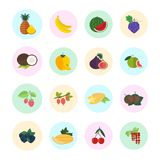 Set Vector Illustration of Fruits. Set of vector illustration of fruits. Flat elements on white background Royalty Free Stock Photography