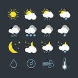 Set of vector illustration of modern weather icons vector illustration